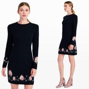 Club Monaco Kerioth Floral Merino Wool Dress